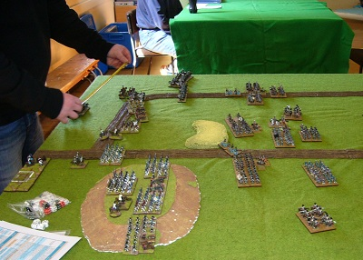15mm Westphalians and Prussians in a FOGN game.