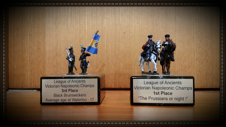 Trophies from the Melbourne Napoleonics competition