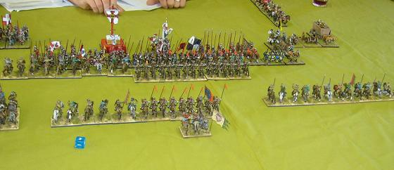 DBMM 25mm. Jalayirid cavalry attacking Medieval Germans.