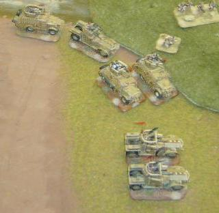Flames of War, armoured cars of the 11th Hussars at Natcon 2010