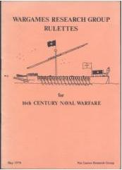 Wargames Research Group Rulettes for 16th Century Naval Warfare