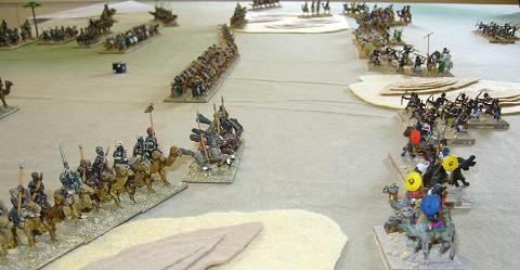 DBR Alwa armies in 15mm. Click for larger image.