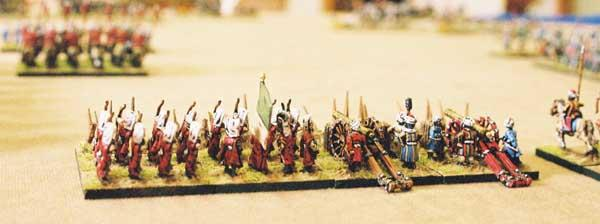Turkish Janissaries and artillery