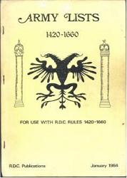 Army Lists 1420-1660 for use with R.D.C. Rules 1420-1660