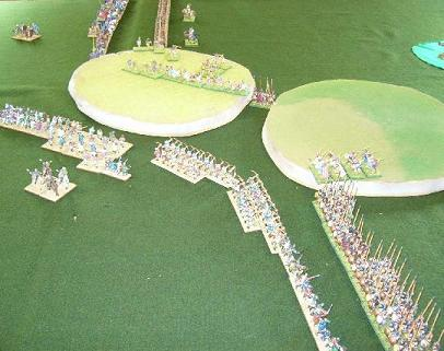 25mm DBMM battle between Spartans and Medieval Portuguese
