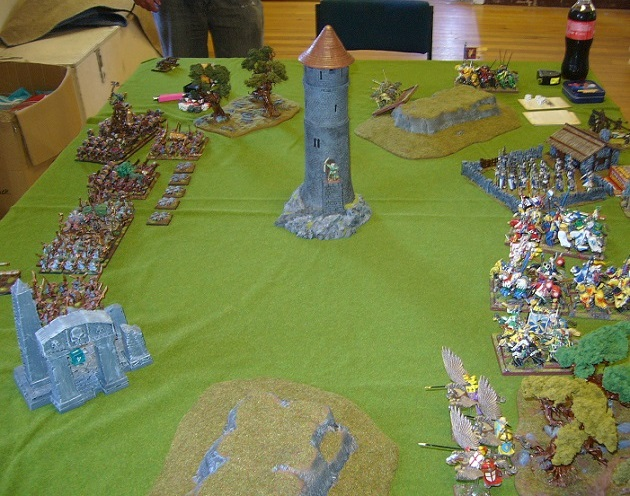 Warhammer battle at the NSWC